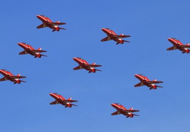 Red Arrows First 9 Ship Practice of 2017 Taken Place Today