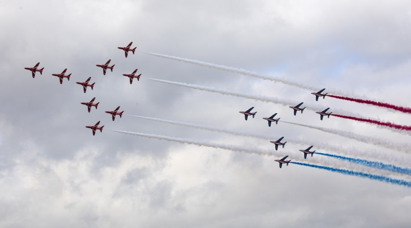 Red Arrows & La Patrouille de France Flypast
